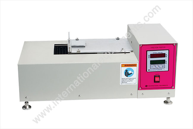 Digital Static and Kinetic Coefficient of Friction Tester